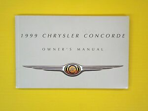 1997 chrysler concorde owners manual